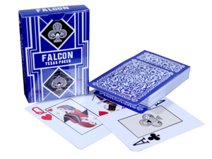Falcon Texas Poker Jumbo Index Blue - casino-kart