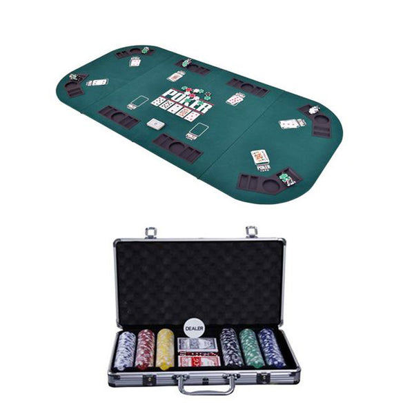 Foldable Table Top + Chipset with out Denomination - casino-kart
