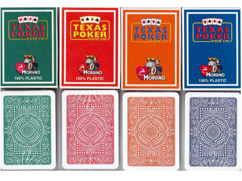 MODIANO TEXAS POKER PACK OF 24-3 COLORS EACH - casino-kart