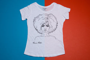 Short sleeve T-shirt - Girl - Femme fatale - huge hair - FoxbyFox