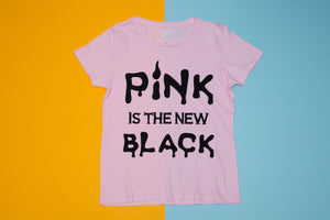 Short sleeve T-shirt - Pink is the new black