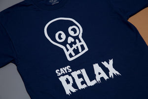 Short sleeve t-shirt - Skull says relax