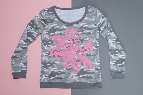 Hoodie - Camo Pink Knight