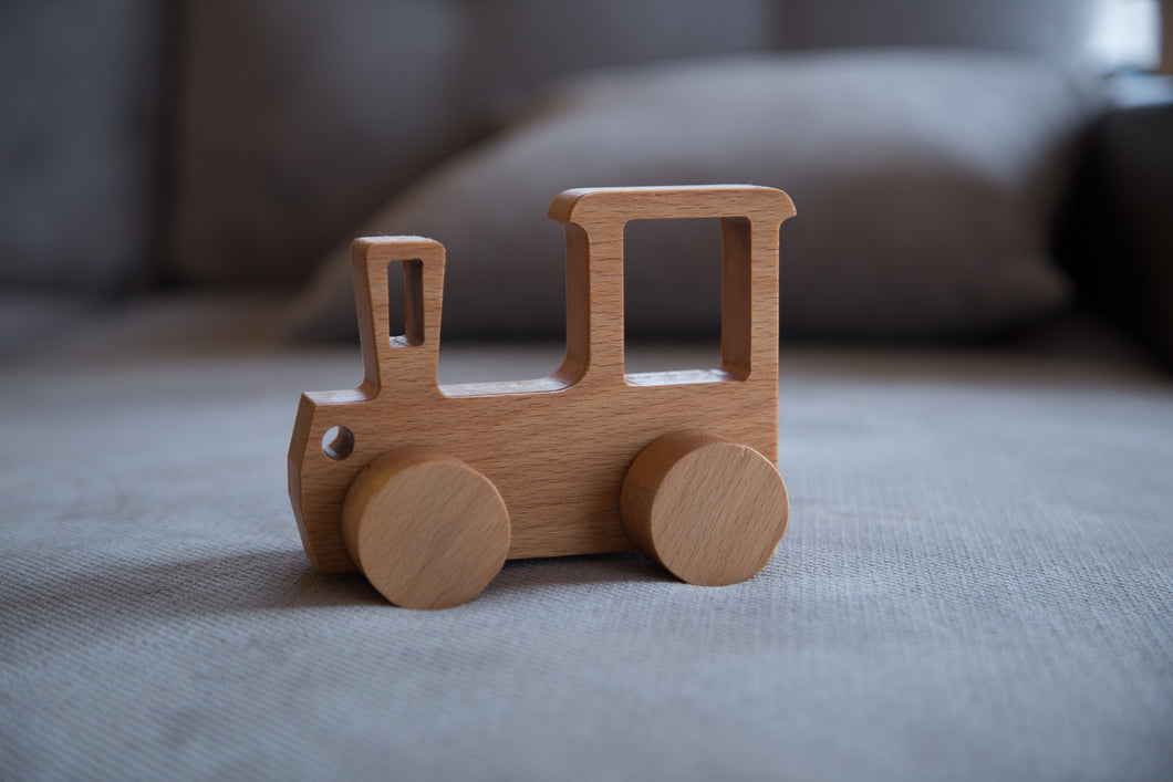 Hardwood handmade train for kids