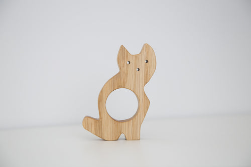 Handmade teether toy Cat for Babies_miau miau - FoxbyFox