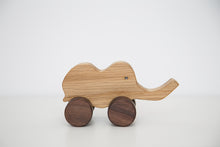 Handmade hardwood Elephant on wheels