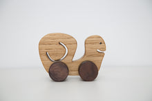 Handmade hardwood Snail on wheels_squeek squeek - FoxbyFox