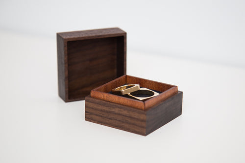 Handmade hardwood wedding ring box