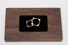 Handmade hardwood wedding ring plate
