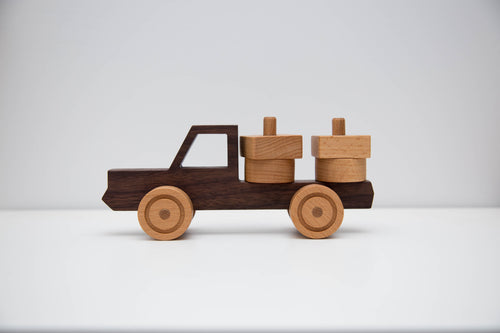 Handmade Hardwood Truck with puzzle load