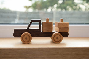 Handmade Hardwood Truck with puzzle load_drd drdr - FoxbyFox
