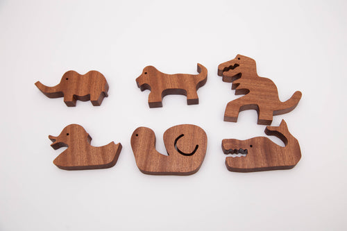 Wood animal collection