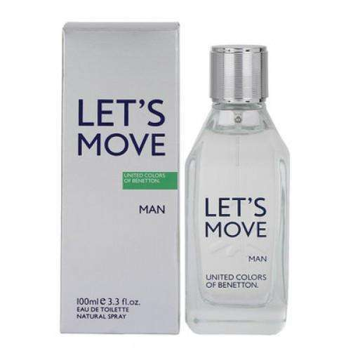 Perfume Benetton LETS MOVE para Hombre de 100 ml - 3.4 Oz Supershop