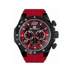 Supershop:Reloj Btech para Hombre Multifuncion Moda Color Rojo