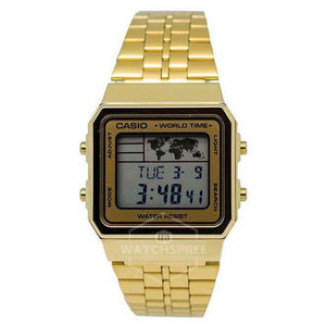 Supershop:Reloj Casio para Unisex Digital Elegante Color Dorado