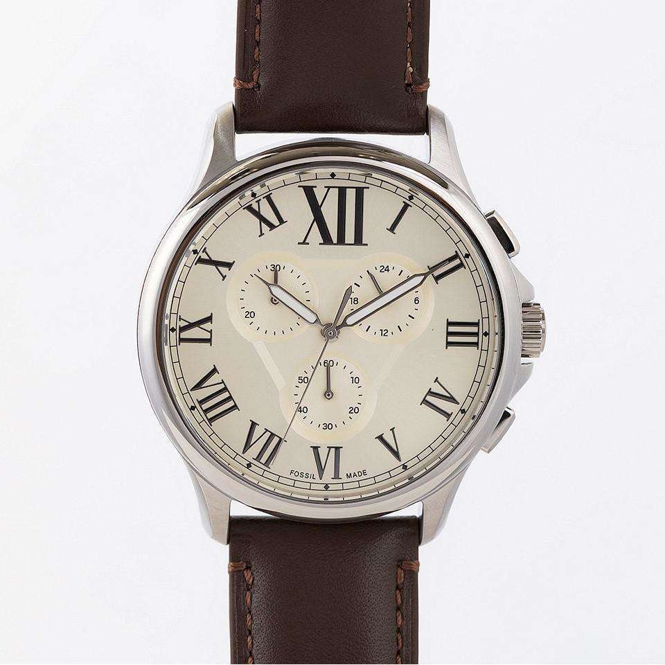 Supershop:Reloj Fossil para Hombre Multifuncion Casual Color Cafe