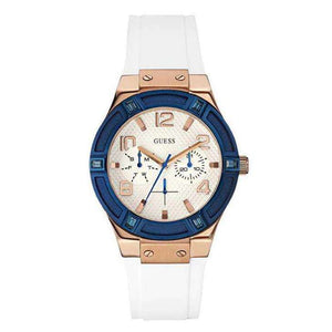 Supershop:Reloj Guess para Mujer Multifuncion Moda Color Blanco