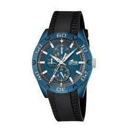 Supershop:Reloj Lotus para Hombre Multifuncion Casual Color Negro