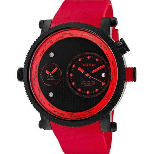 Reloj Red Line 50037-BB-01-RD para Hombre Pulso Goma Negro Clasico Supershop