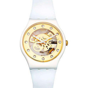 Supershop:Reloj Swatch para Unisex Clasico Casual Color Blanco