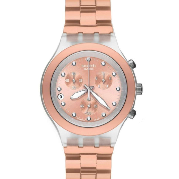 Reloj Swatch SVCK4047AG para Mujer Pulso Acero Inoxidable Cafe Cronografo Supershop