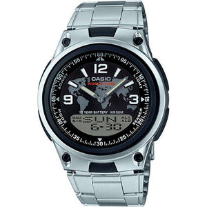 Supershop:Reloj Casio para Hombre Cronografo Casual Color Silver