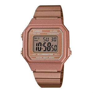 Supershop:Reloj Casio para Unisex Digital Casual Color Dorado Rosa