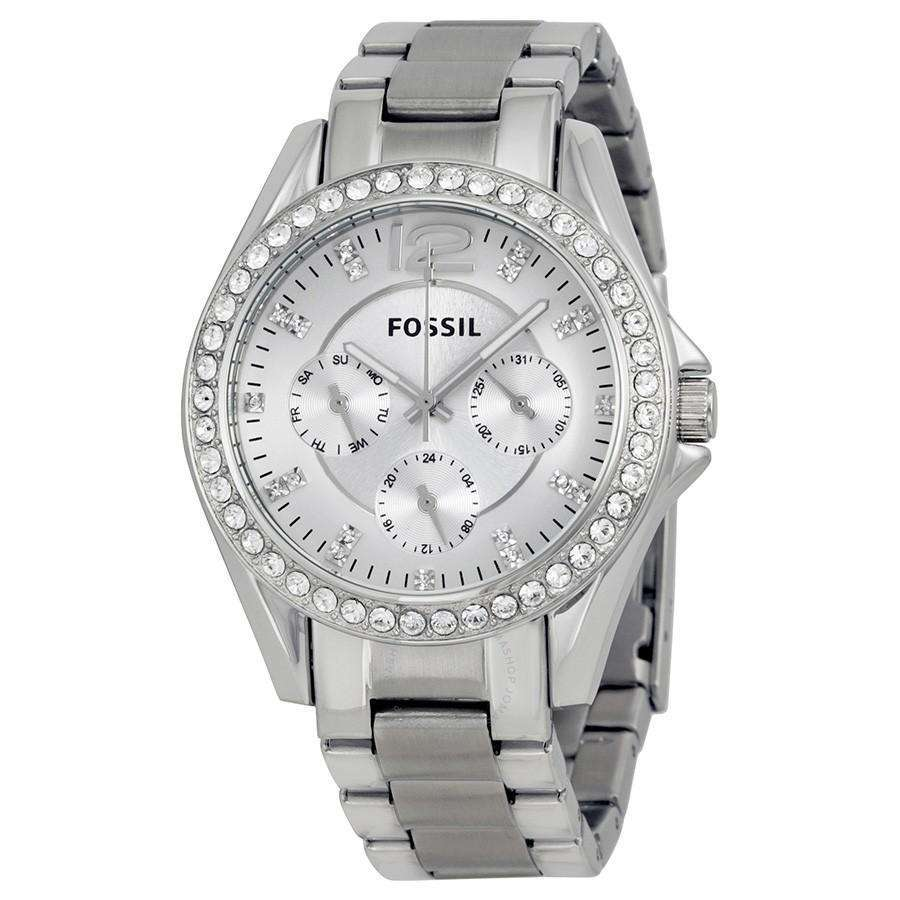 Supershop:Reloj Fossil para Mujer Multifuncion Elegante Color Silver