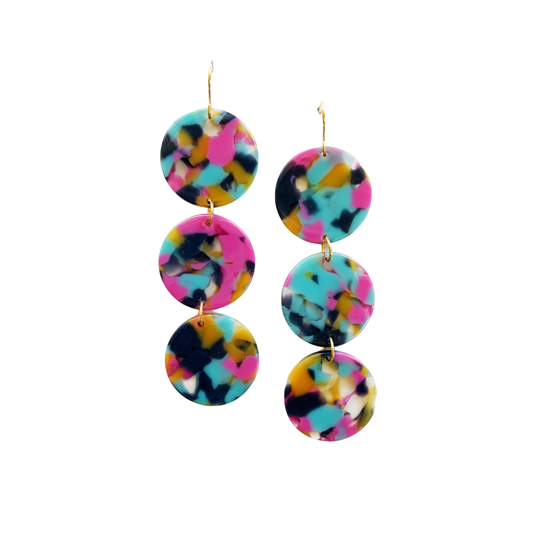 3 Circle Acrylic Earrings