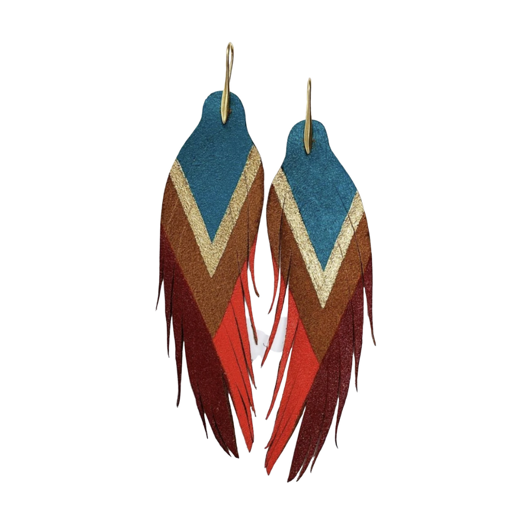 Color Block Feathers