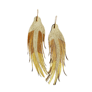 Three Way Gold Feathers