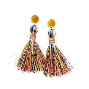 "FIESTA || Multi-color neon 2"" Tassels"