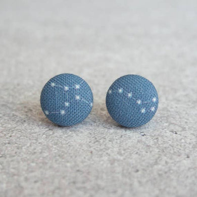 Constellations Fabric Button Earrings
