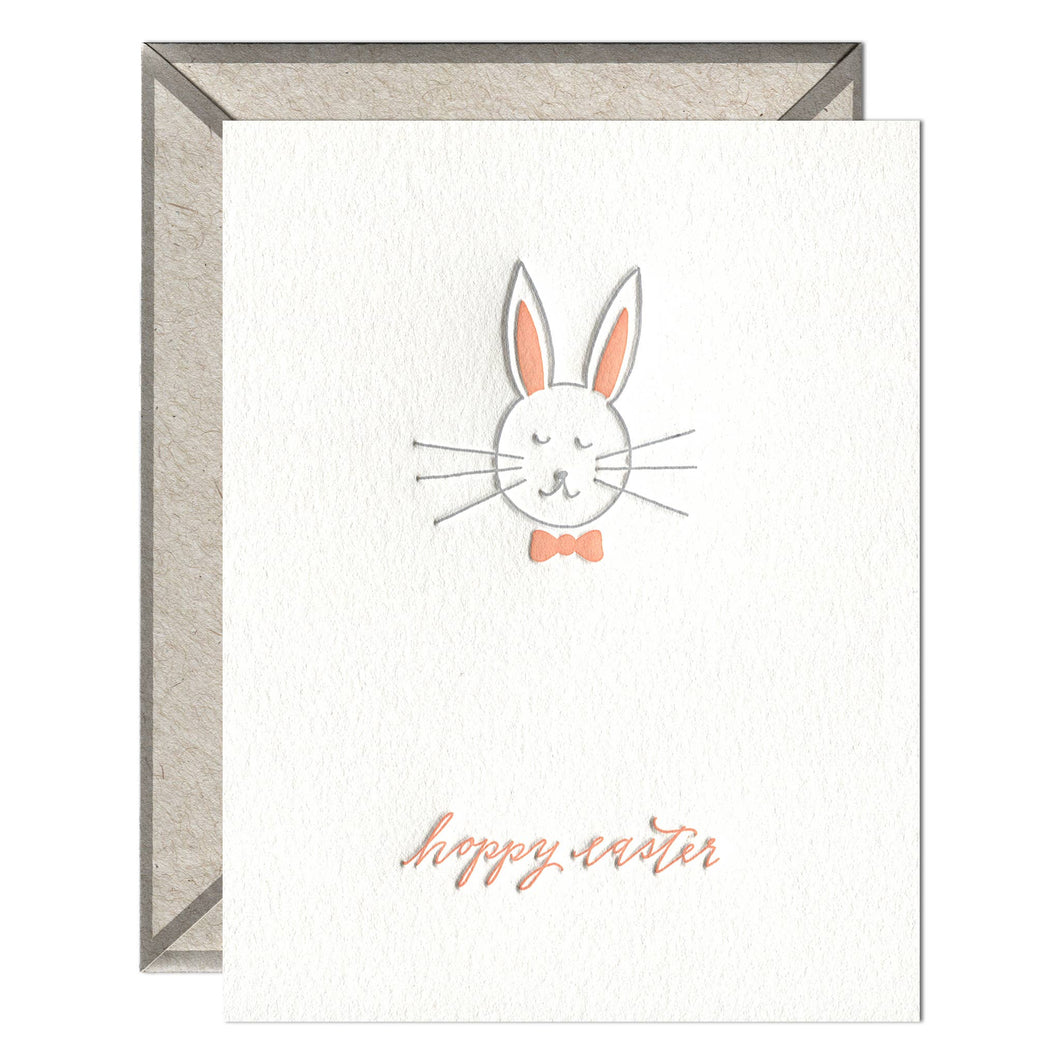 Hoppy Easter Letterpress greeting card