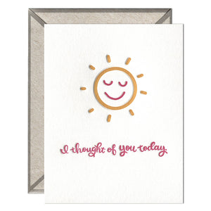 Thought of You Today Letterpress greeting card