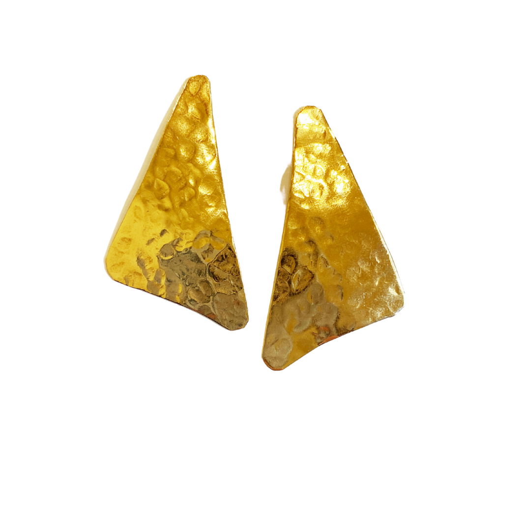 Textured Triangle Studs