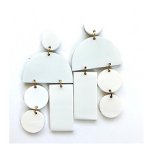 White Horn Mobile Earrings