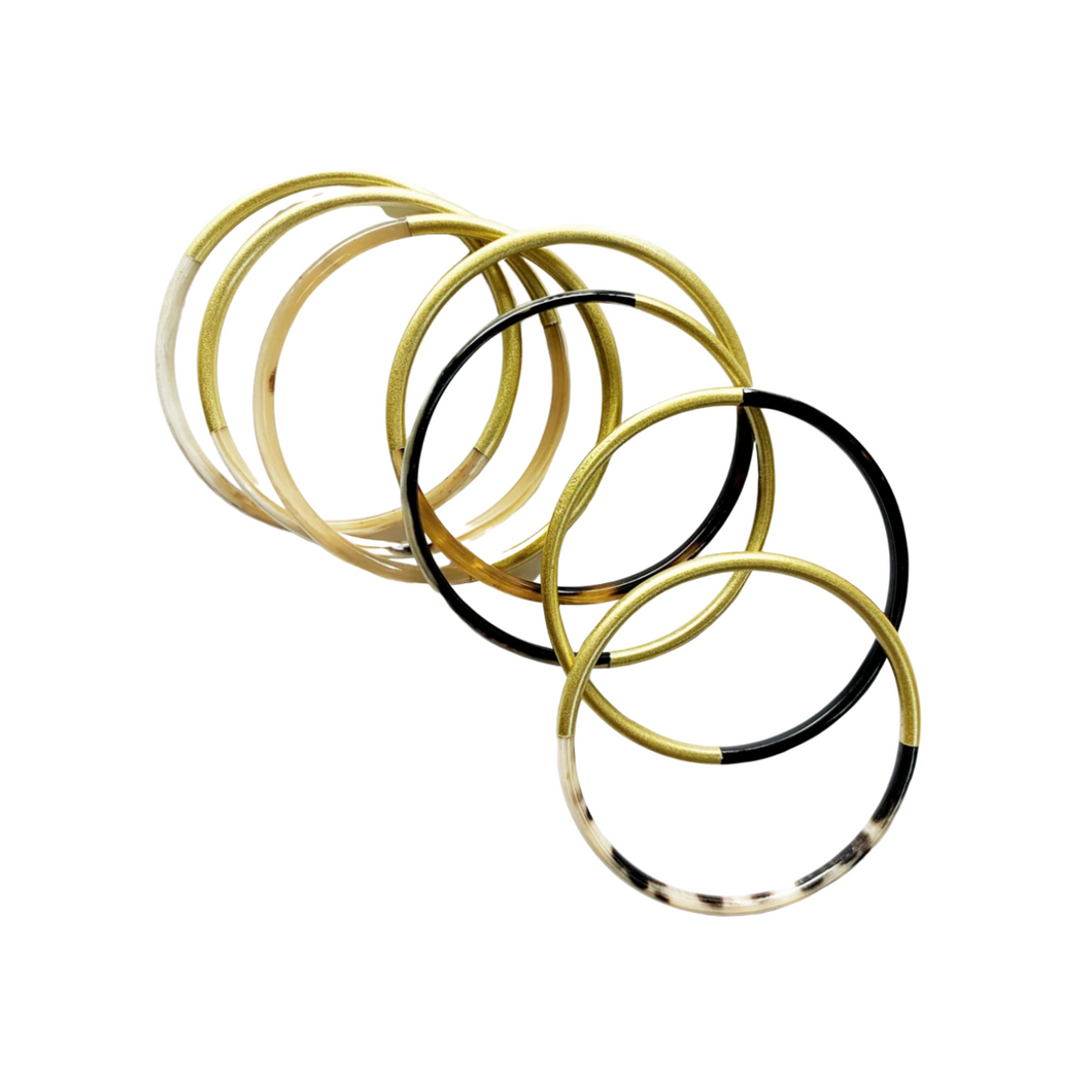 Gold Horn Bangle Set
