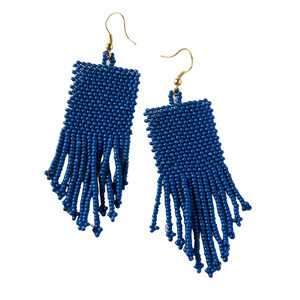 Lapis Seed Bead Earrings