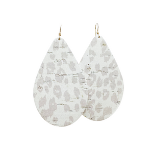 *Earring of the Month* Nude Leopard Cork