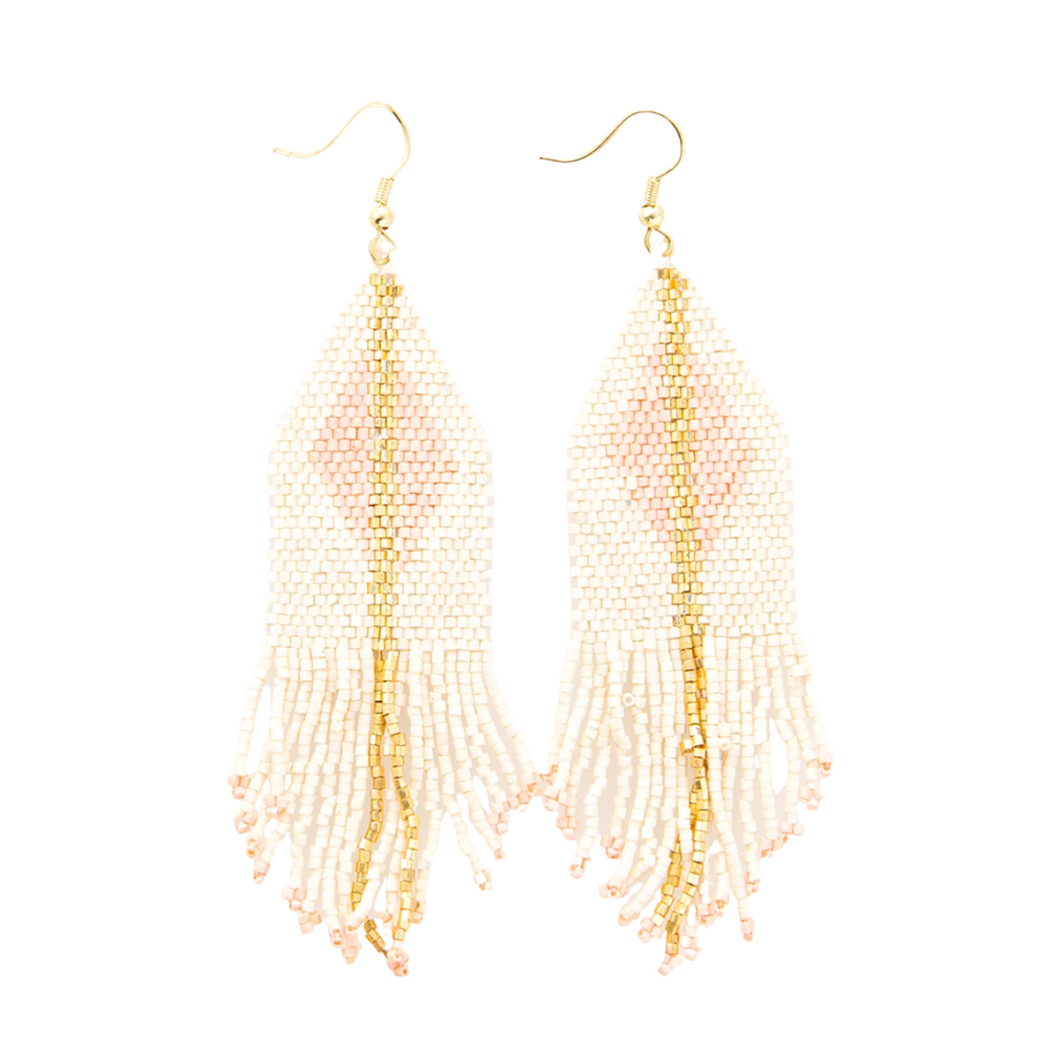 Ivory With Blush Luxe Earring