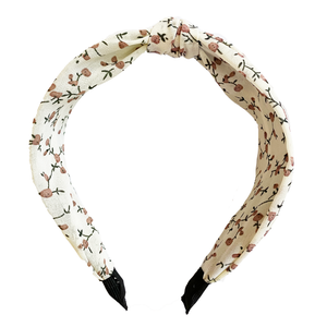 Vintage Floral Headband in Cream