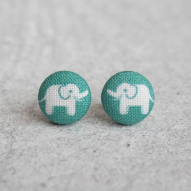 Elephant Parade Fabric Button Earrings