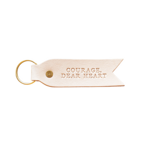 Courage Dear Heart Key Fob - Blonde + Brass