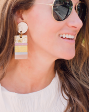 Rose Colored Cabana Earrings