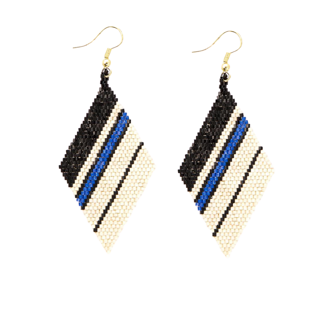 Ivory Black Lapis Diamond Luxe Earring