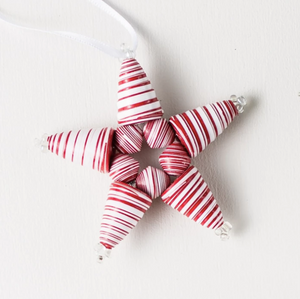 Candy Cane Star Ornament