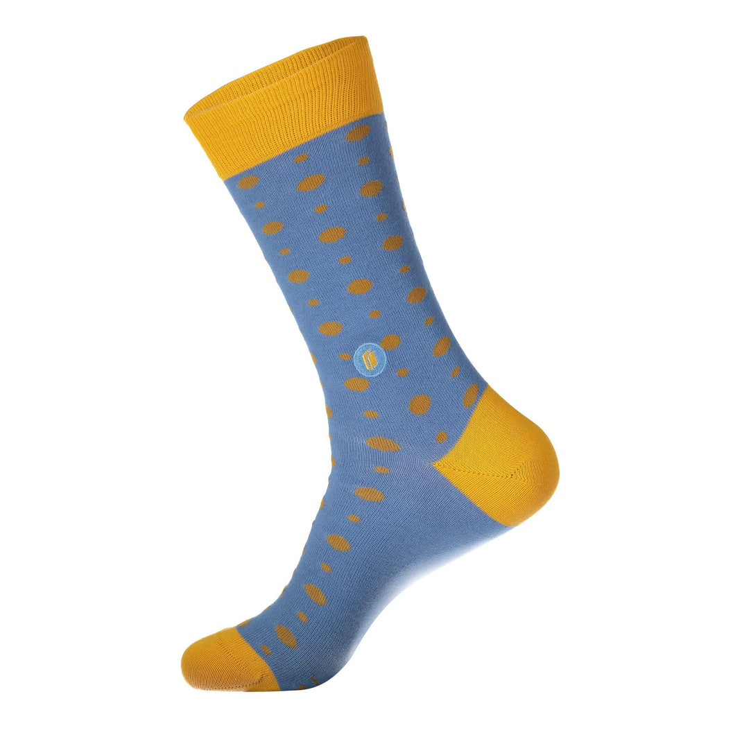 Socks that Give Books- Yellow/Blue