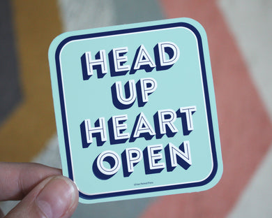 Head Up Heart Open Vinyl Sticker