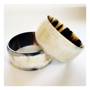 Natural Horn Thick Bangle
